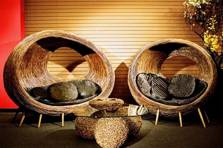 Плетеная мебель в интерьере гостиной: природный материал в современном мире (40 фото)