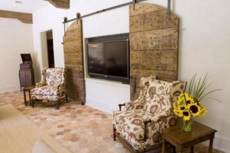 Как спрятать телевизор в гостиной: как разместить и скрыть технику в комнате (35 фото)