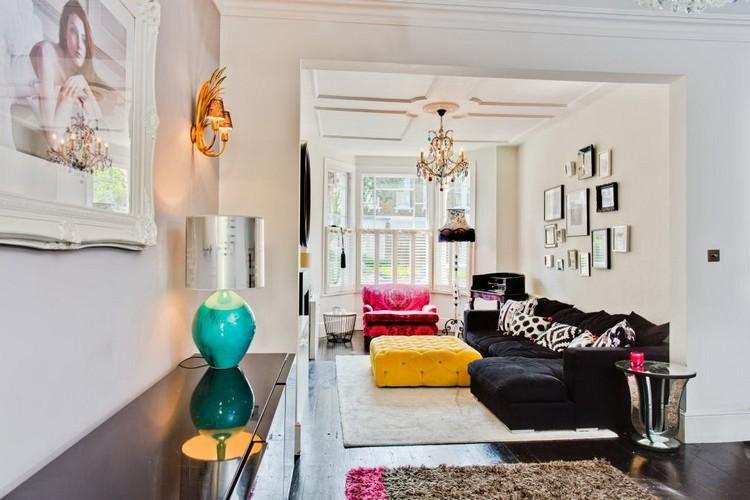 Уютные пуфики в интерьере гостиной: как разместить, где поставить и как использовать (21 фото)