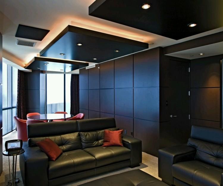Черный цвет в дизайне потолка - стильно и не скучно