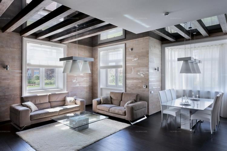 Необычный дизайн потолка, привлекающий внимание