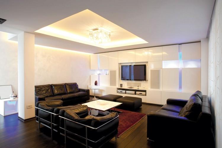 Идеи для потолочной подсветки в гостиной