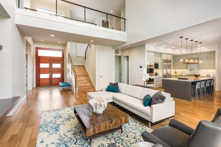 Гостиная: 2 в 1: решения для совмещения кухни и пространства для жилой зоны